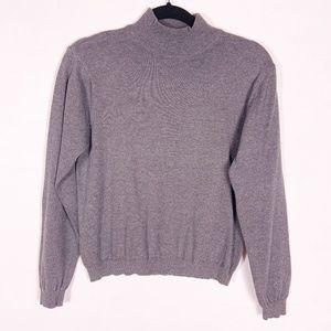 Talbots   gray high-neck sweater